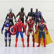 THE AVENGERS/SET 8 PCS 16 CM CAPITAN AMER SPIDERMAN IRONMAN BATMAN ANTMAN VISION