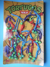 RARE VINTAGE 1988 TMNT TEENAGE MUTANT NINJA TURTLES LACE-UP SHOES DISPLAY