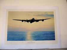 Coast in Sight AVRO Lancaster Bomber Robert Taylor Signed Aviation Art