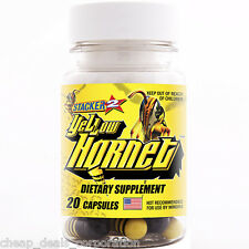 Yellow Hornet by Stacker 2 Boost Energy 20 ct (1 Bottle) = 20 Capsules