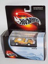 100% Hot Wheels Collectibles Invader Yellow w/ Plastic Display Case