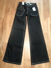 NWT Joe Fresh Denim Jeans  Size 0 Flare Boot, Very Dark Indigo Wash  (LM-36)