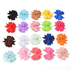 20Pcs Girl Baby Bow Hair Clip Aligator Grosgrain Ribbon Boutique Bowknot Hairpin