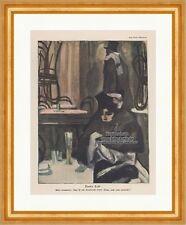 Pariser Cafe Jugendstil Paul Rieth Frankreich Frau Thonet Ostini Jugend 1373