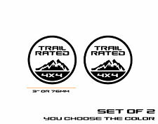 Auto car Aluminum black TRAIL RATED 4X4 fit for JEEP Emblem Decal Badge Sticker