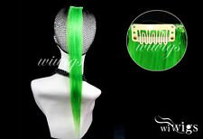 "Cosplay New Straight 1 x Colored Clip-on In Hair Extensions Green 18"" Long UK"