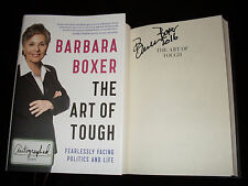 Barbara Boxer signed The Art of Tough 1st printing hardcover book