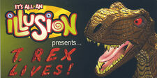"""T-Rex Lives! It's All an Illusion Jack in the Box Promo 2"""" X 4"""" MOTION FLIP Book"""