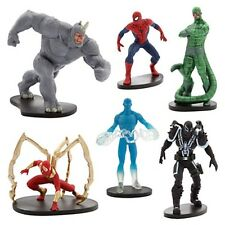 Disney Store ULTIMATE SPIDER MAN Action Figures Mini Doll Play Set w/ Villains