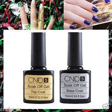 2pcs Removable Top coat + Base coat UV Gel Nail Polish Primer Nail Art Manicure