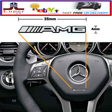 x2 AMG Steering Wheel Sticker Badge Logo Emblem Mercedes Benz Alloy Smart
