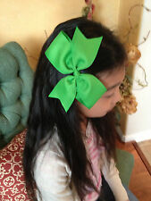 "7"" Big XL Hair Bow Boutique Girls Baby Toddler Alligator Clip Grosgrain Ribbon"