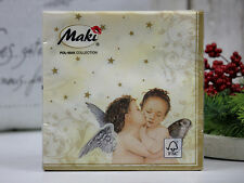 4 x single lovely PAPER NAPKINS for decoupage/ ANGELS