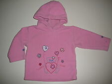 Süßer Kapuzen Fleece Pullover Gr. 74 rosa mit Bärchen Stickerei !!