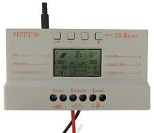 30A MPPT LCD Solar Panel Regulator Charge Controller 12V/24V 380W/760W With USB