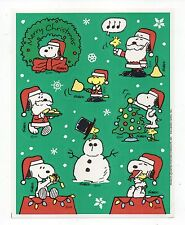 Vintage Hallmark Sticker, SNOOPY CHRISTMAS PEANUTS, 1 Sheet, Scrapbooking