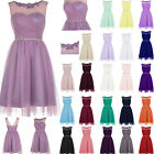 STOCK Long Formal Party Ball Evening Bridesmaid Chiffon Ball Prom Dress Size6-18