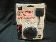 Cable Extension  de PAD Para Consola Play Station 2  2.2 metros - Nuevo - Negro