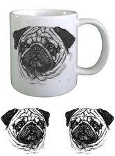 Pug Dog Sketch Ceramic Mug by paws2print