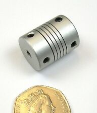 Zero Backlash Flexible Shaft Coupling 4mm Axle Servo Encoder CNC Lathe Milling.