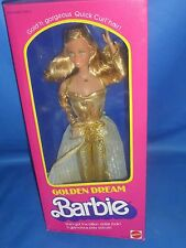 ♥ NRFB TOP vintage Superstar Ära 1980 Golden Dream Traum Barbie Quick Curl hair