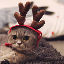 Cute Pet Cat Dog Cap Hat For Puppy Animal Shapeshift Christmas Elk Deer Costume