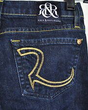 Rock & Republic Berlin Resistance Blue Jeans 23 USA Skinny