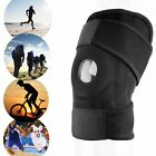 Elastic Neoprene Knee Patella Support Sports Brace Adjustable Strap Black