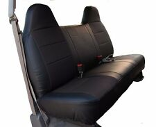 FORD F-250 350 BLACK LEATHER-LIKE CUSTOM MADE FIT FRONT BENCH SEAT COVER