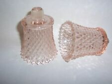 Pink Diamond Votive Cups Lot of 2 Homco Home Interiors