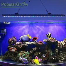 81W Blue White LED Aquarium Bar Light Strip IP65 Fish Tank Reef Coral grow light