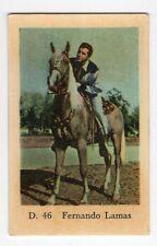 1950s Swedish Film Star Card D Set #46 Latin Lover Actor Fernando Lamas