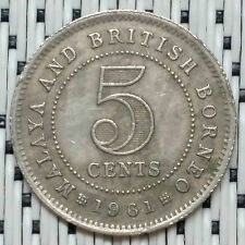 *GOOD/HIGH Grade* 1961 - Malaya - 5 Cents Elizabeth II #CBRU