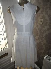 Karen Millen Lace Stripe Dress Size 16
