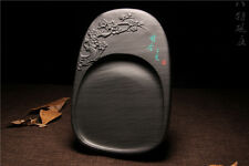 """8"""" She Ink Stone Plum Blossom Pattern Inkstone Inkslab Calligraphy Painting Tool"""