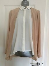 Dorothy Perkins Size 14 Stone Double Layer Shirt