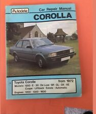 Auro data Toyota Corolla 1972- 1200 1300 1600 Workshop Manual