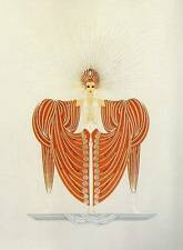 "Original Vintage ERTE ART DECO PRINT ""RADIANCE"" Fashion Book Plate"