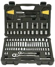 Stanley 123-Piece Mechanics Tool Set Ratchets Sockets SAE Metric Hand Tools