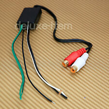 Car Stereo Radio Speaker Wire to pair RCA Line Level Converter High/Low IN OUT
