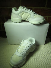 NIB  ILLINOIS THEATRICAL CHILDREN'S WHITE LEATHER UNISEX DANCE SNEAKERS SZ 4 081
