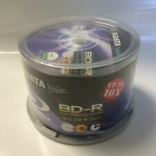 50 RiData Valor White Inkjet Printable Blu-Ray BD-R Blank Disc 25GB Up to 10X