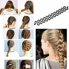 1PC Womens Make Hair Braid Clip Stick Bun Tool Twist Hairpin Centipede Braider N