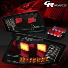 FOR 00-06 AUDI TT TYN 8N MK1 SMOKED BLACK 3D LED SIGNAL BRAKE/REVERSE TAIL LIGHT