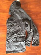 RELWEN  WAXED CANVAS BLACK CHARCOAL  P-COAT ( LARGE) $ 560