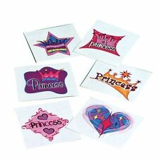 12 Princess Temporary Tattoos Girls Kid Party Goody Loot Bag Filler Favor Supply