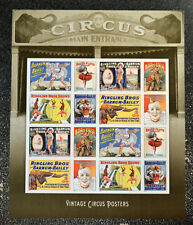 2014USA   #4898-4905  Forever Vintage Circus Posters - Sheet of 16  Mint NH