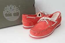 NWB Timberland Women's Earthkeepers® Classic Unlined Boat Shoes Size 9.5 (US)Red