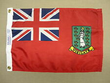 "British Virgin Islands Red Civil Ensign Nylon Outdoor Indoor Boat Flag 12"" X 18"""