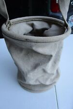 Vintage Canvas Water Bucket Pale Folding Collapsible Cloth